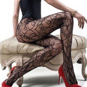 Black lace legging
