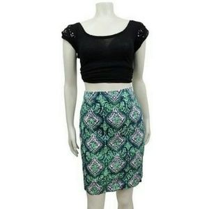 J.Crew paisley printed the pencil skirt Sz 4