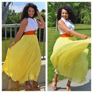 Gracia Dresses & Skirts - Yellow Maxi Skirt