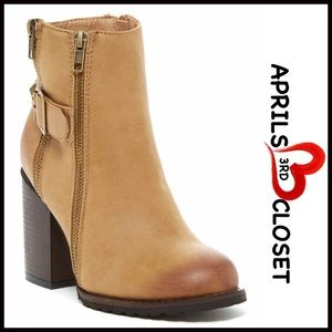 ❗1-HOUR SALE❗BOOTS Heeled Ankle Buckle Boots