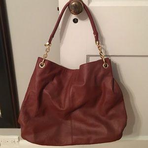 Handbags - Maroon Leather Bag