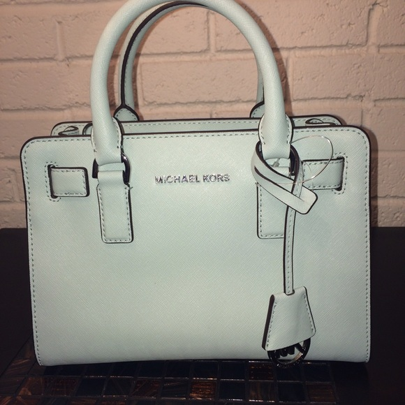 cc46c88fb9a1 Michael kors celadon mint small Dillon satchel