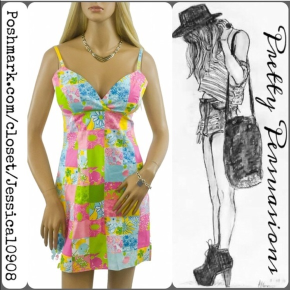 Lilly Pulitzer Dresses & Skirts - Lilly Pulitzer Patchwork Multicolored Dress