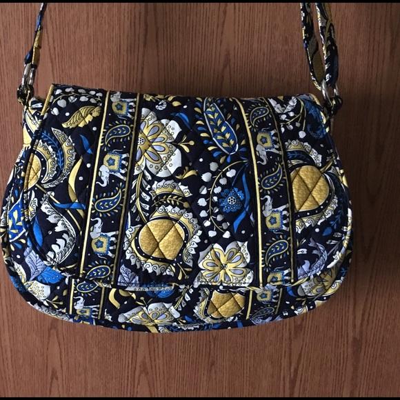 Vera Bradley Elle Blue Elephant Yellow purse. M 572baf124225beb84300a494 55d585f5b65fd