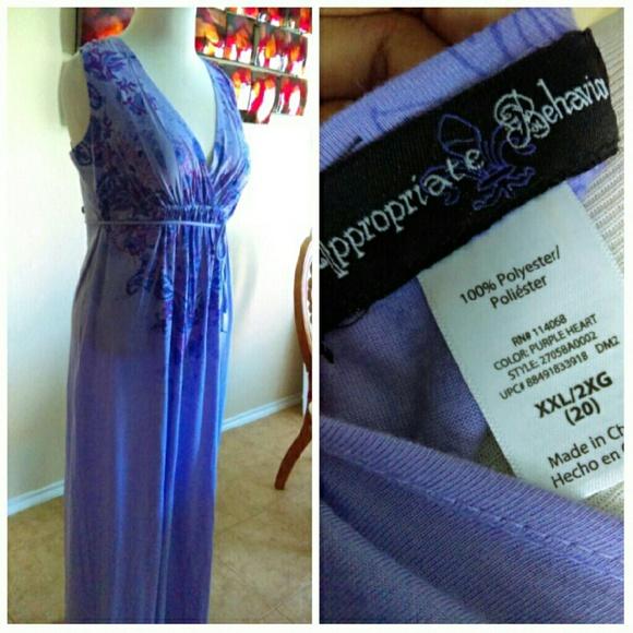 Boutique Dresses - Pretty Lavender Maxi  Size 14-18