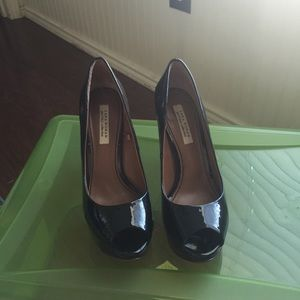 Zara Patent leather Black Platform Pump