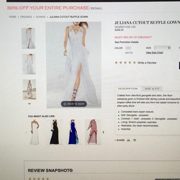 2aad66aba1215 BCBG Dresses & Skirts - Bcbg Juliana cutout ruffle gown