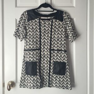 68 Off Anthropologie Tops Anthropologie Leather Trimmed