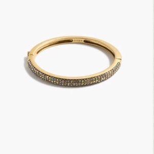 J. Crew Jewelry - Pave crystal hinge bracelet