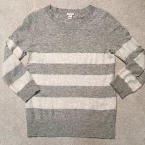 J. Crew Sweaters - J. Crew Sequined-Striped Sweater
