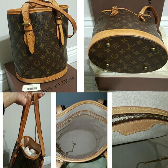 Louis Vuitton Handbags - Authentic Louis  Vuitton Monogram Petit Bucket