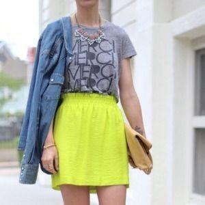 J. Crew Dresses & Skirts - J. Crew Neon Green City Mini Skirt