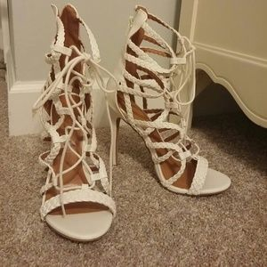 Lace up High Heel Sandals- brand new, never worn