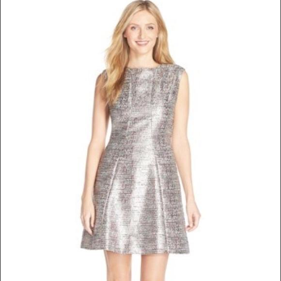 a3dbaa4bcb34 Tahari Metallic Jacquard Fit & Flare Dress. M_59ff107d3c6f9fb2a70ca4e1