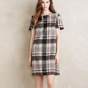 Anthropologie frontier plaid shift dress