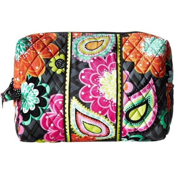 ffd3ded2d6 Vera Bradley Large Cosmetic Bag Ziggy Zinnia NWT