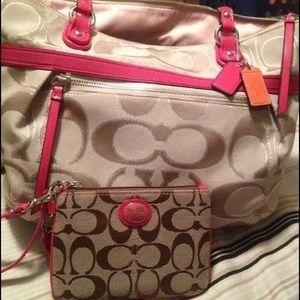 Authentic Coach purse with wristlet