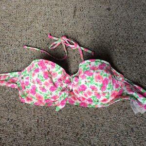 Abercrombie floral bikini top