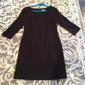 Eliza J Dresses & Skirts - Black shift dress with jeweled neckline and pocket