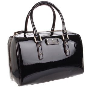 "Kate Spade ""Flicker Melinda"" Black Patent Satchel"