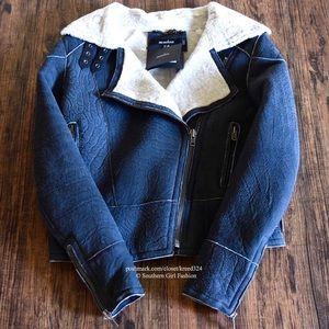 Muubaa Jackets & Blazers - MUUBAA Coat Leather Moto Jacket Delta Aviator Warm