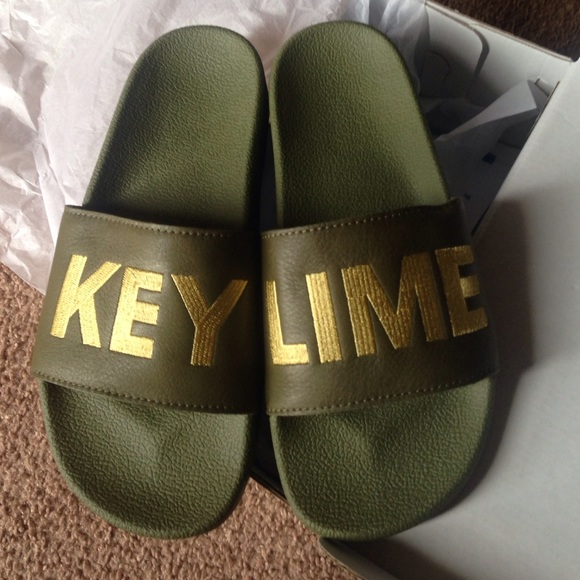 c64f5a4ef Adidas Shoes | Custom Slippers Key Lime Brand New With Tag | Poshmark