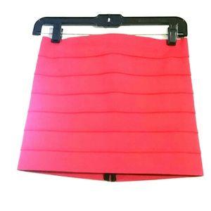 Pleasure Doing Business bandage red mini skirt