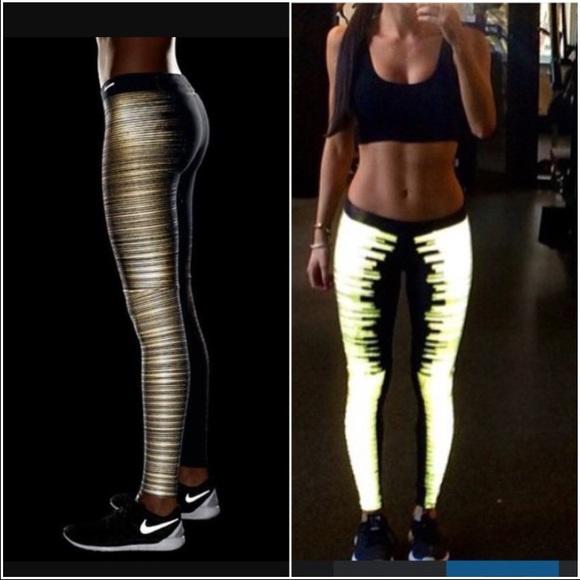 51f45b48e4a607 Nike Pants | Flash Print Reflective Dri Fri Leggings | Poshmark