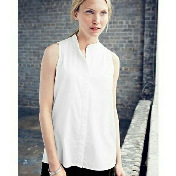 83a9dd12 Eileen Fisher Tops - Eileen Fisher Organic Cotton Sleeveless Blouse