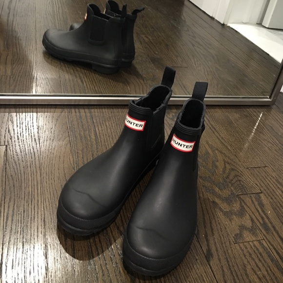 4c3496a94256 Hunter Shoes - Women s Ankle Hunter Chelsea Rain Boots Black 8