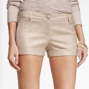Express Pants - Express gold shimmer dress shorts