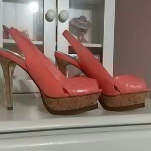 Brand New Bebe Zahara heels perfect condition