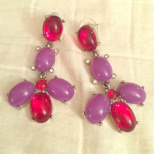Jewelry - Purple and red earrings