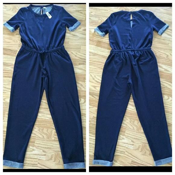 5721fec2c8e Old navy blue jumper romper xxl 18 20 stretch