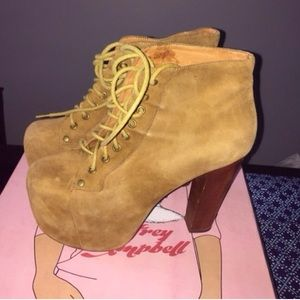 Jeffrey Campbell Lita platform heeled boots
