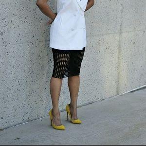 Lauren Marinis Shoes - GILDA Yellow Suede Pumps