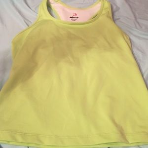 Ativa Tops - Large lime workout tank top with built in bra!