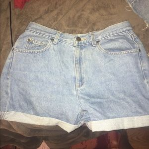 Pants - High waisted jean shorts