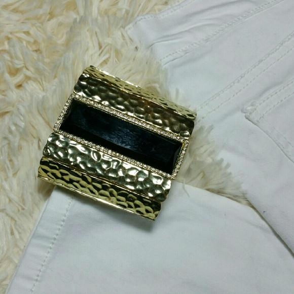 **WKND SALE** Vintage hammered gold bracelet