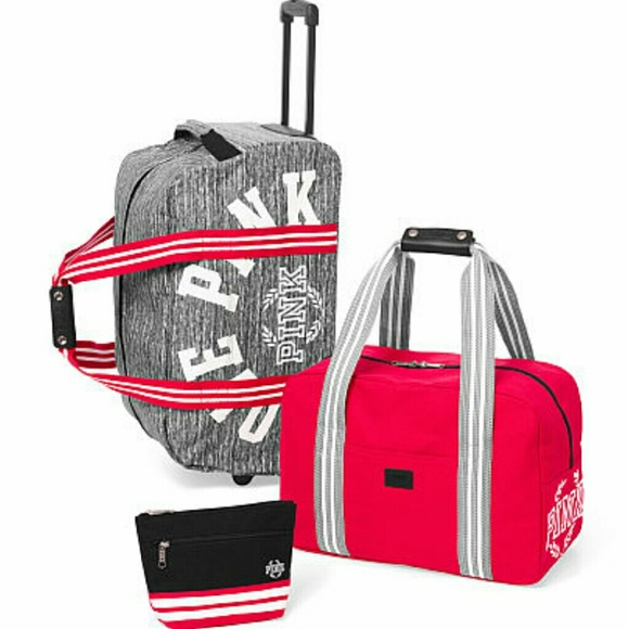 PINK Victoria's Secret - Nwt vs pink luggage set 3 pieces from ...