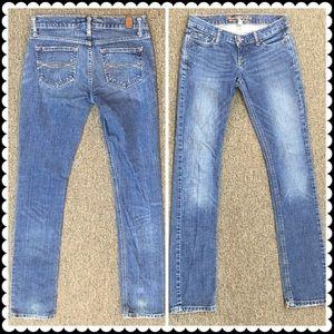 Abercrombie straight leg jeans Sz 0 Long