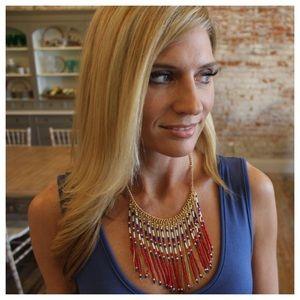 Jewelry - Patriotic fringe necklace