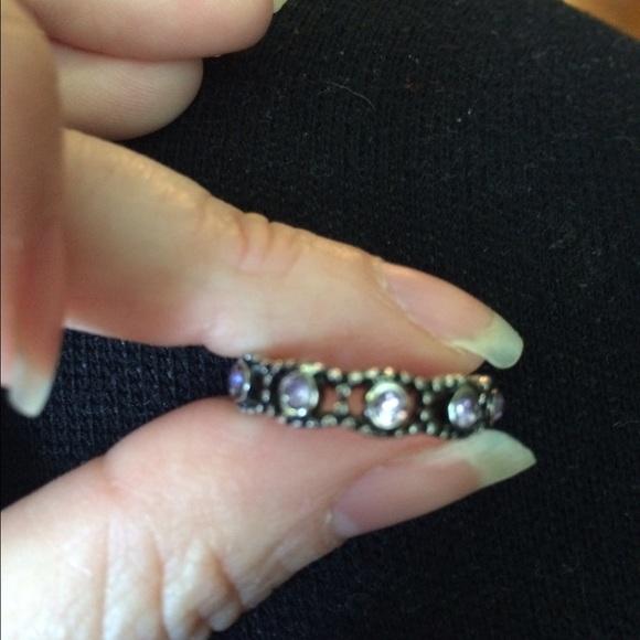 018ae2e28 Pandora size 7 her majesty ring (purple stones). M_572ca50d9c6fcfeeb1001df4