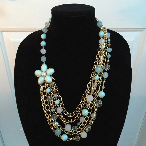 necklace j station style hsn tone gold graziano s r p prairie drop vintage