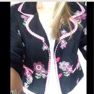 ⬛SALE⬛️Cynthia Steffe floral embroidered jacket