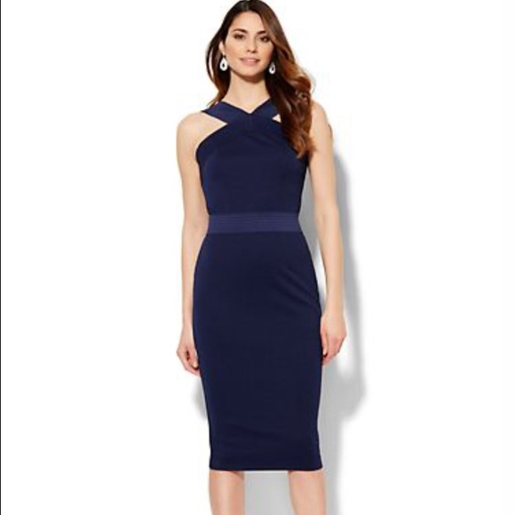 New York & Company Dresses | Knit Bodycon Halter Dress | Poshmark