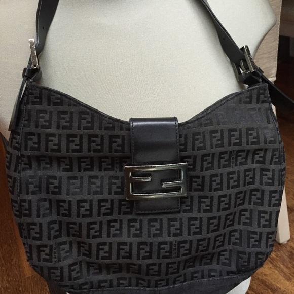 FENDI Handbags - FENDI Zucca Monogram leather Shoulder Bag Used 87363a19ab649