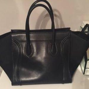 Black leather Celine