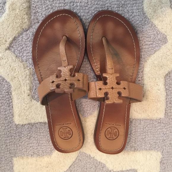 Tory Burch Moore Sandal - Tan - Size 8