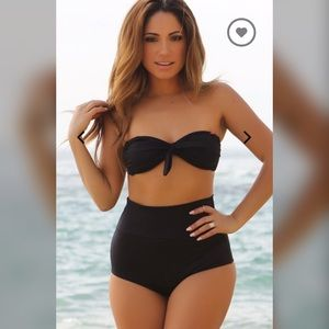 05e55743d81f Doll Swimwear Swim | Waikiki High Waist Scrunch Bikini Bottoms Black ...